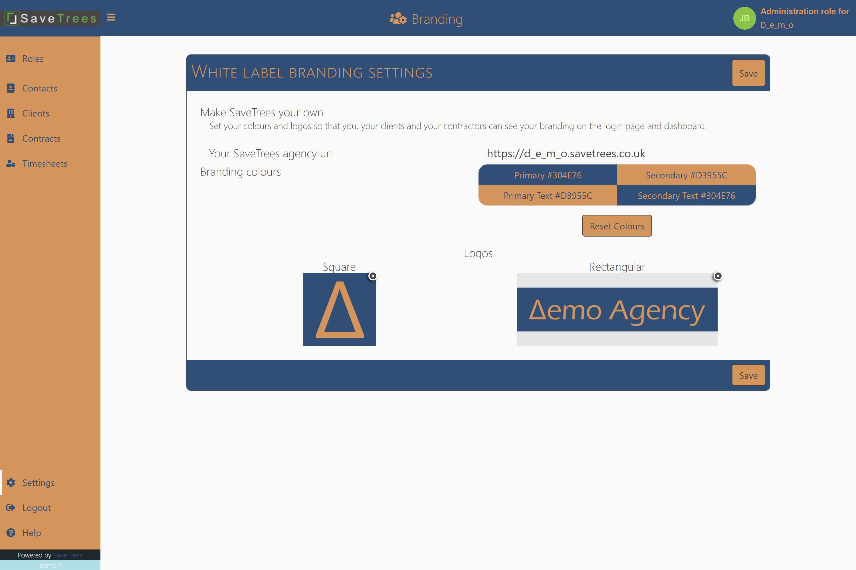 Save your agencies rectangular logo