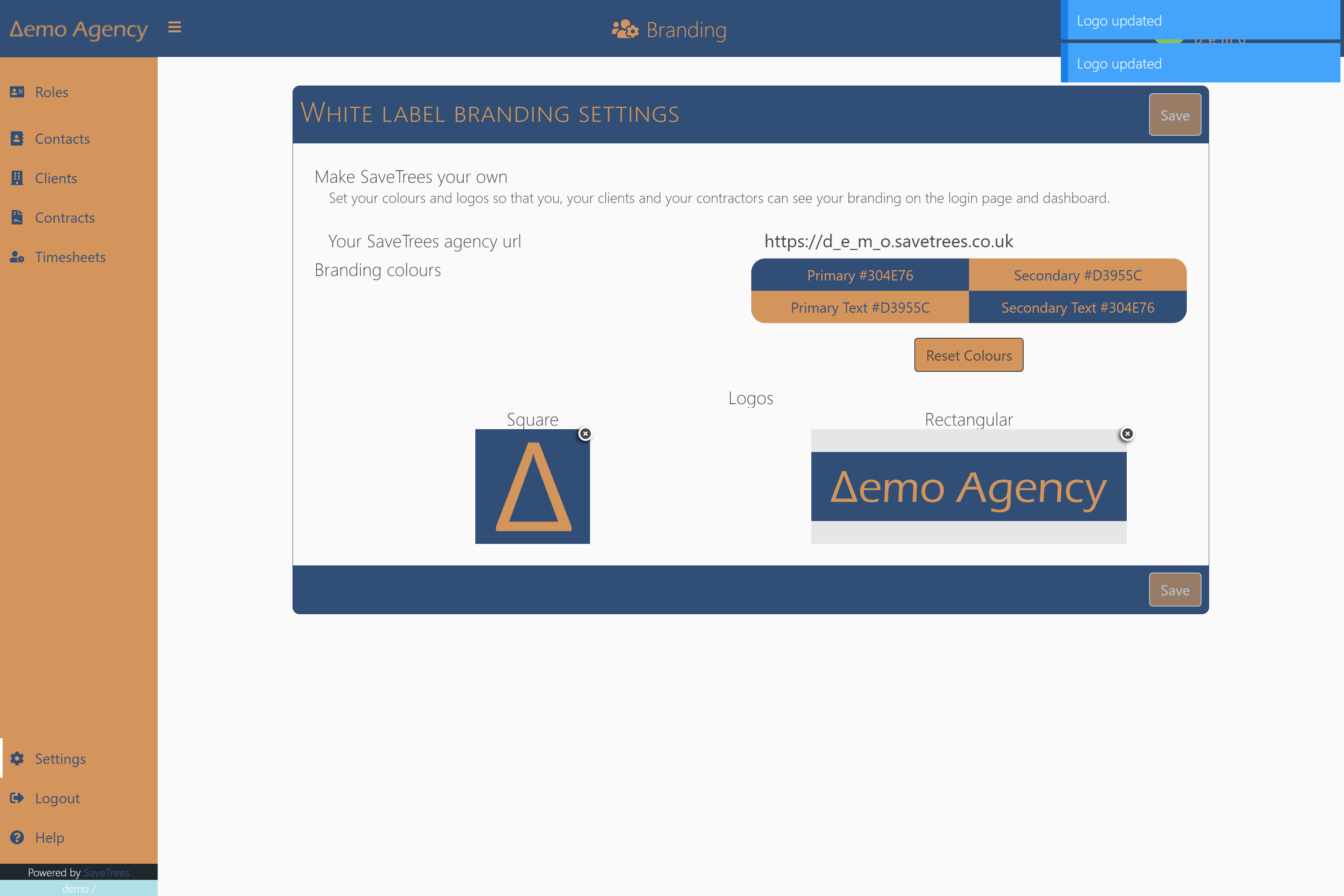 Save everything and your agency dashboard will now be branded